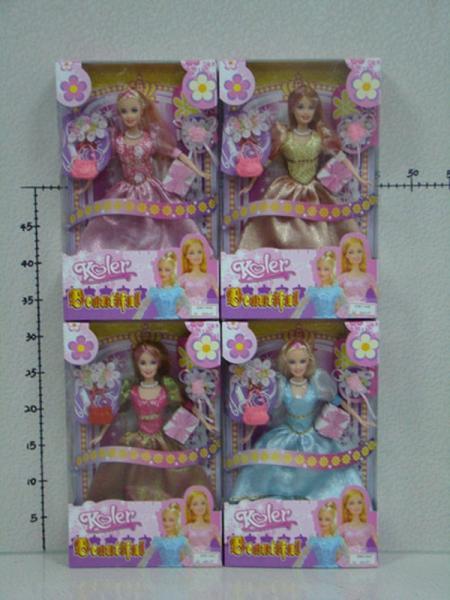 """Кукла типа """"Барби"""" OP451-631 (60шт/2)с аксес.,4 вида,в кор.30*20,3*6см   Артикул: 02451631"""