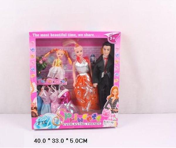 "Кукла типа ""Барби"" ""Семья"" 9982-01 (60шт/2) с одеждой, в кор.40*33*5см   Артикул: 02998201"