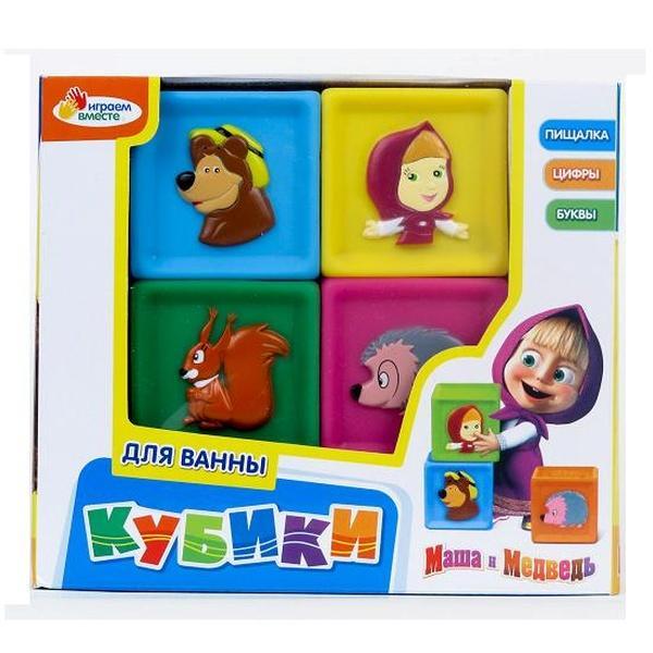 """Кубики """"Играем вместе"""" 169BX (48шт/4) резиновые, в короб.   Артикул: 03000169"""
