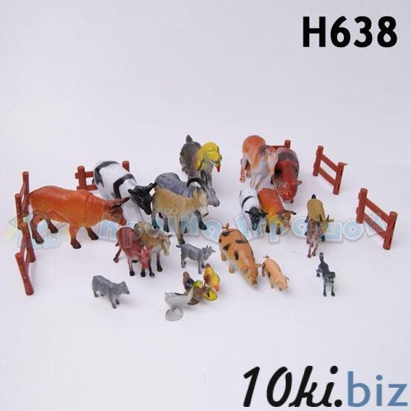 Животные H638 (36шт/2) домашние, в пакете 25см   Артикул: 03000638 Фигурки животных пластиковые, резиновые в Украине