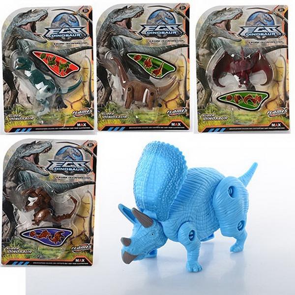 Динозавр 805ABCDE, складається, 5 видів, лист, 19-26-5,5 см   Артикул: 03000805