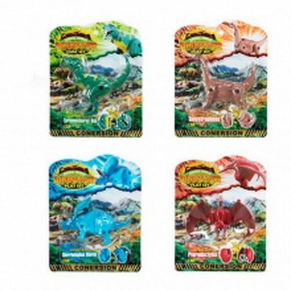 Динозавр 828-1-2-3-4 4 види, лист, 17-22-4 см   Артикул: 03000828