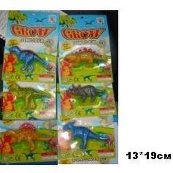 Растущее животное PZ-1005 (144шт) динозавр, 6видов,на планшетке 13*19см   Артикул: 03001005
