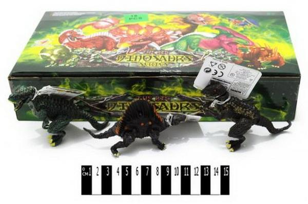 Набір  динозаврів   (коробка 18 шт. ) Q9899-01 р.32х18х6см.   Артикул: 03001651