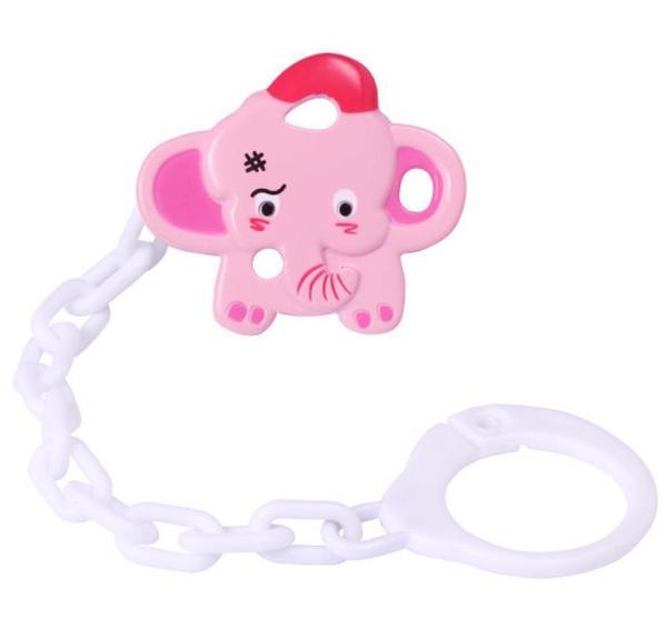1221 Цепочка для пустышки с клипсой слон   Артикул: 03021221