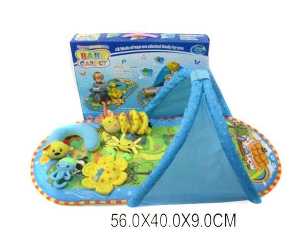 Коврик для малышей 2010 (692388) (12шт/2) с дугами, погремушками,в кор. 56*40*9см   Артикул: 03022010