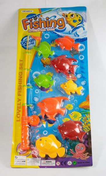 Рыбалка 336-16A (120шт/2) магнит.удочка, 8 морских животных,на планшетке 57*25см   Артикул: 03033616