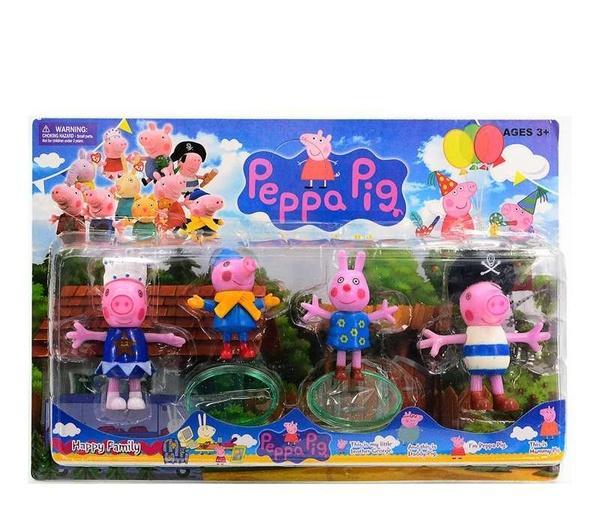 """Набор фигурок """"Peppa Pig"""" 12551 (84) 4шт на листе, 6 видов   Артикул: 03041523"""