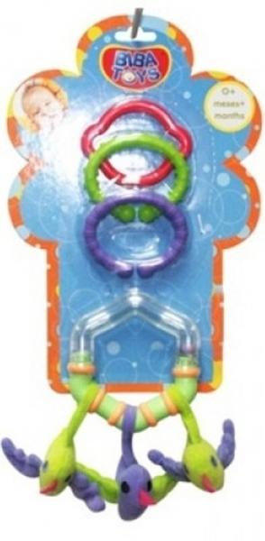 Кольцевая погремушка-подвеска с грызуном Biba Toys ТРИ ПТИЧКИ   Артикул: 03200107