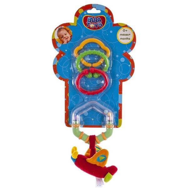 Кольцевая погремушка-подвеска с грызуном Biba Toys САМОЛЁТИК   Артикул: 03200109