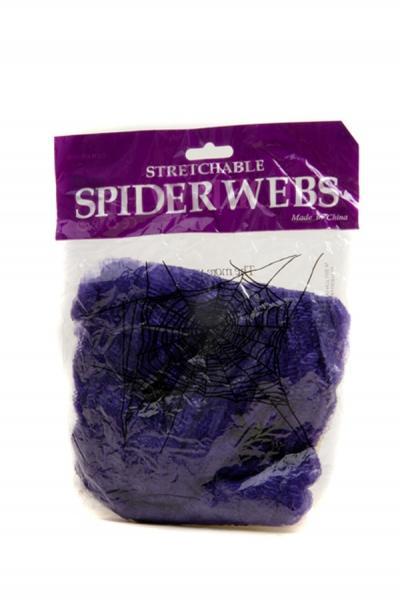 Паутина цветная с пауками (фиолетовая)   Артикул: 03210043