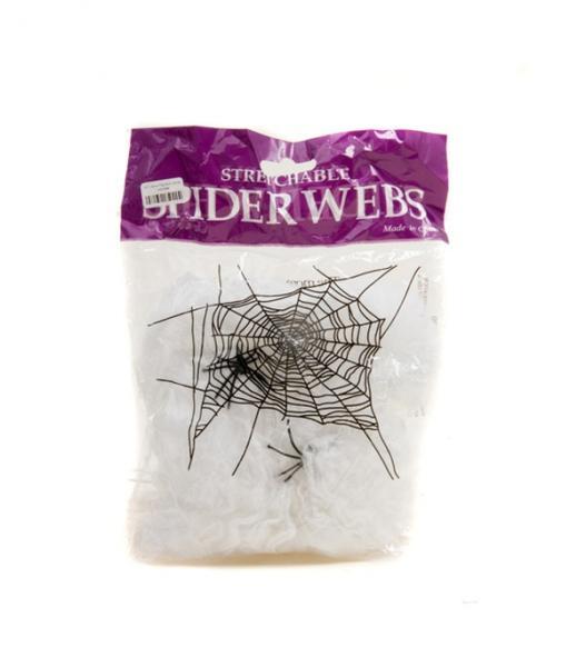 Паутина мягкая с пауками   Артикул: 03210044