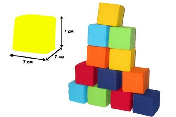 """Мякиши 12"""" кубиков """"Цветные""""   Артикул: 03720347"""