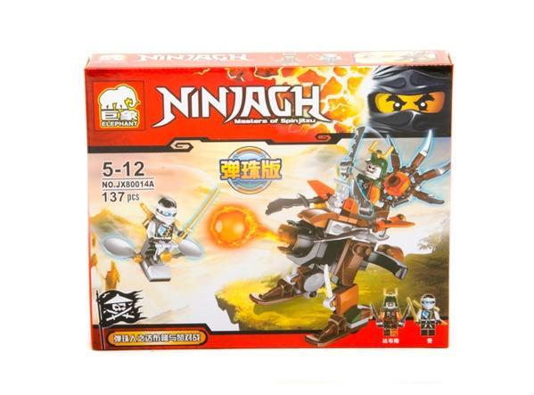 """Brick""   ""NINJAGH""    (коробка  8 шт. )  JX80014 р.23,5х19х4,5см.   Артикул: 04008014"