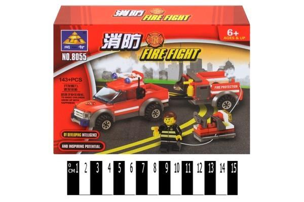 """Brick"" Пожежна техніка  143 дет. 8055 р.18,8х14,2х4,5 см.   Артикул: 04008055"