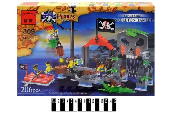 """""""Brick"""" (піратський  острів) 309 р.33,5х23,5х4,5 см.   Артикул: 04009309"""