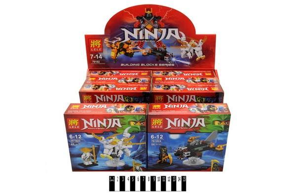 """Brick""   ""NINJA"" (коробка 8 шт.)    79182 р.15,5х14х4,3см.   Артикул: 04009182"