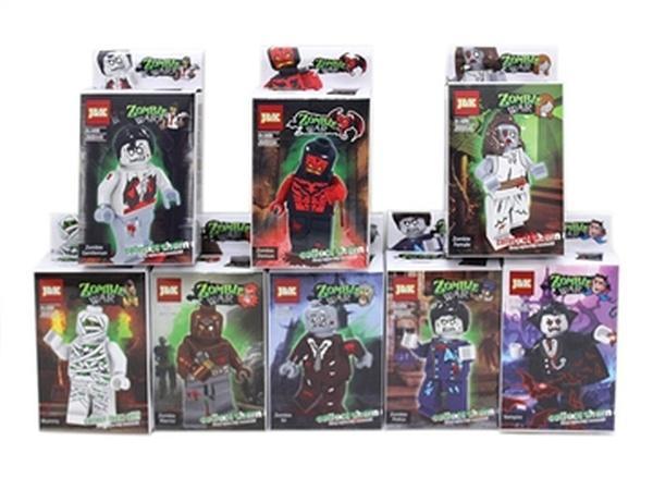 """Конструктор """"Zombie war"""" JAMBO (арт. J&K 0137-0144) 8 видов,пластик,коробка,14.5x8x4cm   Артикул: 04013744"""