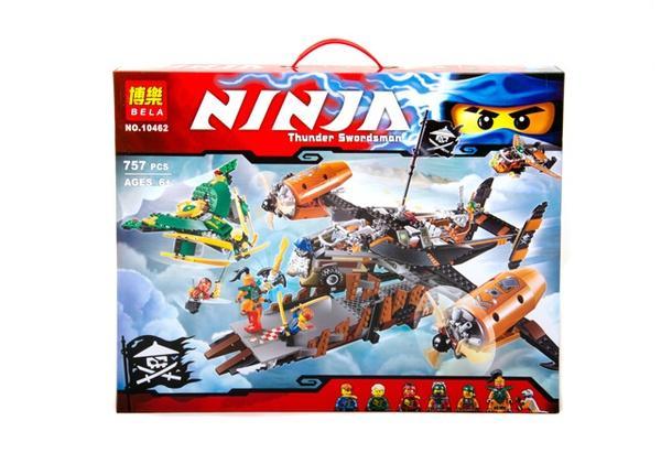 """Brick""   ""NINJA"" (коробка) 757 дет. 10462 р.50х39,5х7,5см.   Артикул: 04020462"