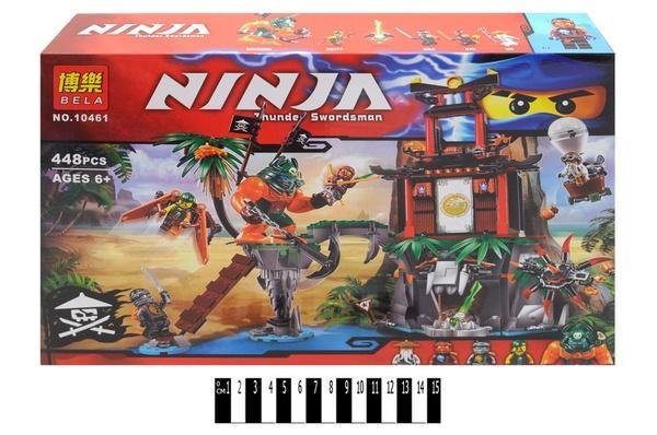 """Brick""   ""NINJA"" (коробка) 449 дет. 10461 р.41х28х7,5см.   Артикул: 04020461"