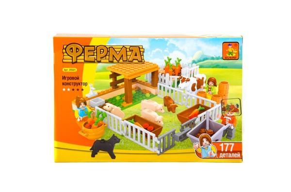 """""""Brick""""   """"Ферма"""" 177 дет. 28501 р.32х21,5х5 см.   Артикул: 04021934"""