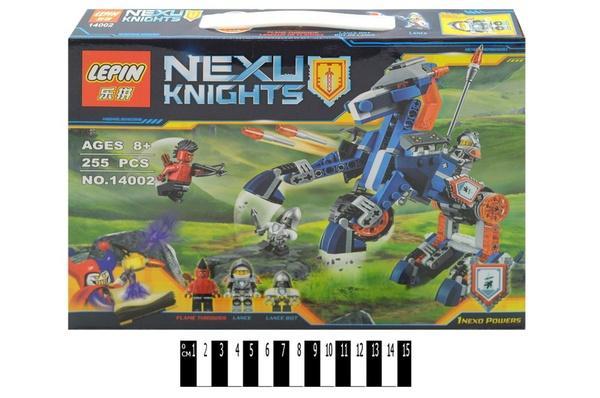 """""""Brick """"   """"NEXO  knights"""" (коробка ) 14002 250 дет. р.31х4,5х24 см.   Артикул: 04221400"""