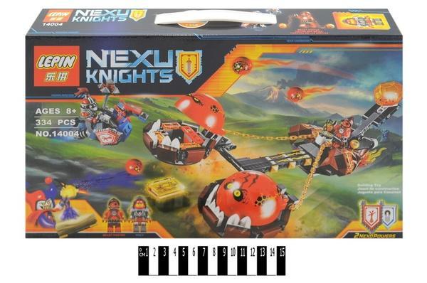 """""""Brick """"   """"NEXO  knights"""" (коробка ) 14004 329 дет. р.40,5х6х24см.   Артикул: 04221404"""