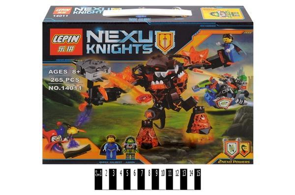 """""""Brick """"   """"NEXO  knights"""" (коробка ) 14011 265 дет. р.31х6х25 см.   Артикул: 04221411"""