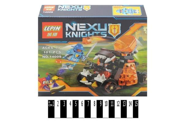 """""""Brick """"   """"NEXO  knights"""" (коробка ) 14009 107 дет. р.19х4,5х17 см.   Артикул: 04224009"""