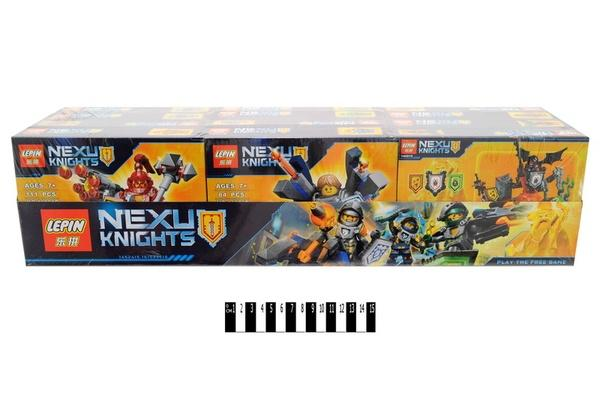 """""""Brick """"   """"NEXO  knights"""" (коробка 12 шт.) 14001А-F  р.56х17х13,5см.   Артикул: 04225053"""