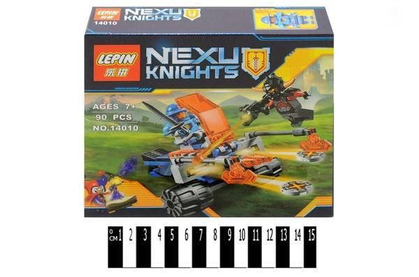 """""""Brick """"   """"NEXO  knights"""" (коробка ) 14010 90 дет. р.19х4,5х17 см.   Артикул: 04225054"""