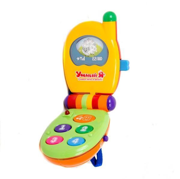 ZY Телефон ZYE 00010-1 (72шт) Умный Я, звук, свет, 2 цвета, на бат-ках, в кор-ке, 12,5-5,5-21,5см   Артикул: 05000101