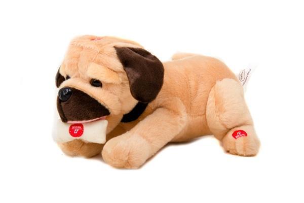 Собака MP 0858 (12шт) интеракт,лает,скулит,дает лапу,ложится,разобр,на бат-ке,в кор-ке,28-25-18см   Артикул: 05000858