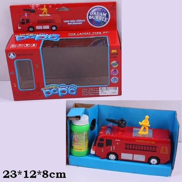 Муз.пожарная машина 1098 (60шт/2)батар.,с мыльными пузырями,в кор. 23*12*8см   Артикул: 05001098