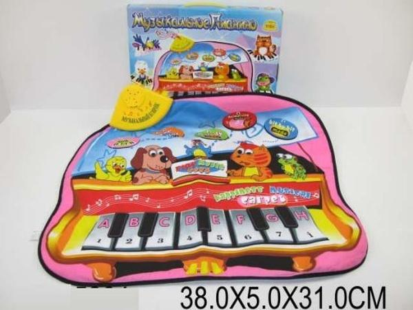 """Муз.разв.коврик YQ2957 (615294) (36шт/2)""""Музыкальное пианино"""" 73х57см,батар.,в кор. 38*5*31см   Артикул: 05002957"""