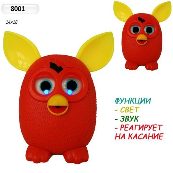 Интерактивное животное 8001(36шт/2) батар, повтор.речь, прикоснов, в кор. 20*20*12,5см   Артикул: 05008001