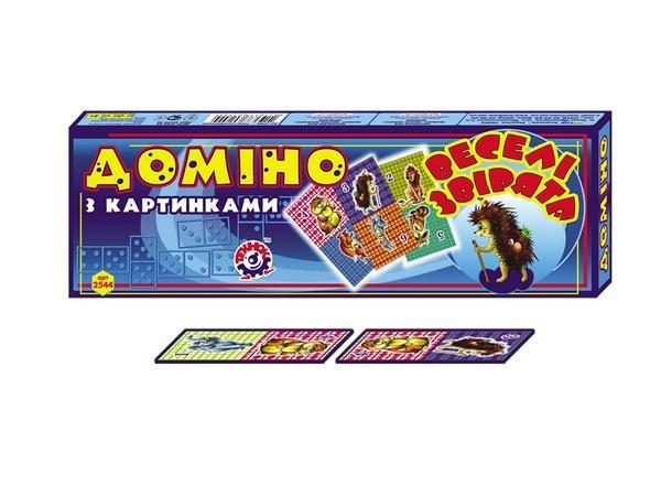 """Домино """"Веселые зверята"""" (16)   Артикул: 06002544"""