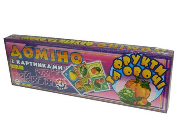 """Домино """"Фрукты овощи""""(16)   Артикул: 06002643"""