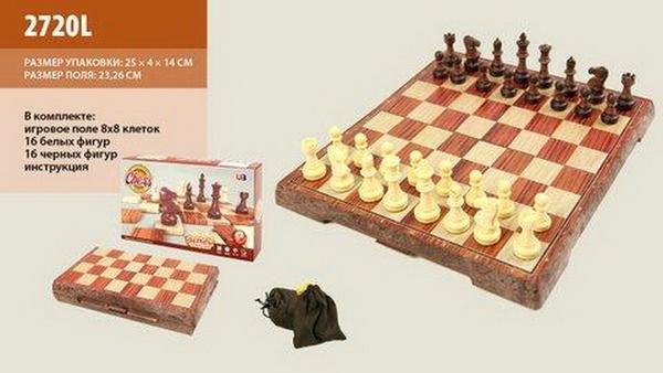 Шахматы 2720L (36шт) в коробке 25*15*4см   Артикул: 06002720