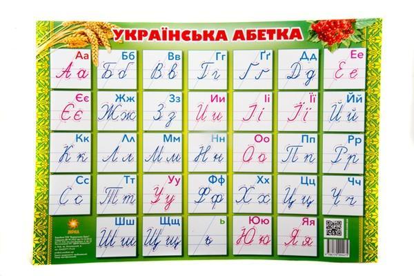 """Плакат """"Українська абетка"""" /прописна/   Артикул: 06004475"""