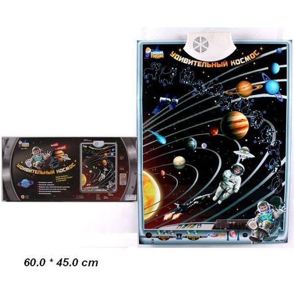 "Плакат обуч. 7097 (12шт/2) ""Тайны вселенной"" батар., звук., 49*23*14см   Артикул: 06007097"