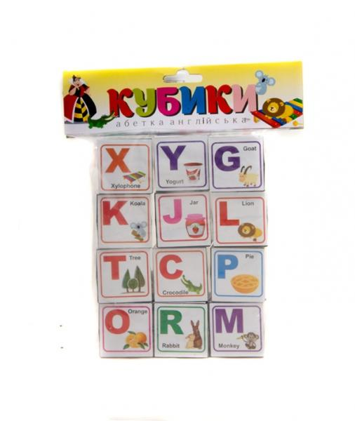 Іграшка Кубики абетка Англійська  Т-1022м   1/   Артикул: 06021022