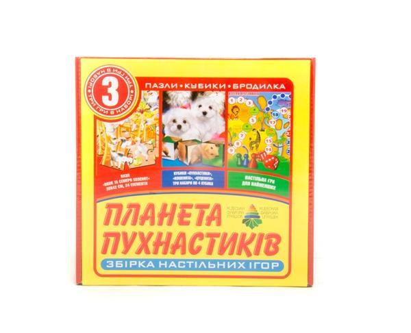 """Настільна гра 3 в 1 """"Планета пухнастиків""""   Артикул: 06110031"""