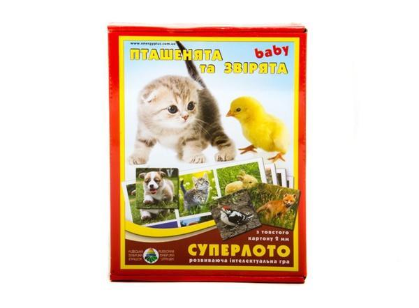 """Супер ЛОТО """"Пташенята та звірята """"   Артикул: 06110094"""