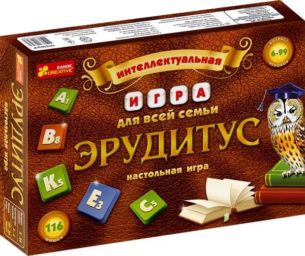 """Настільна гра """"Ерудитус""""   Артикул: 06123581"""