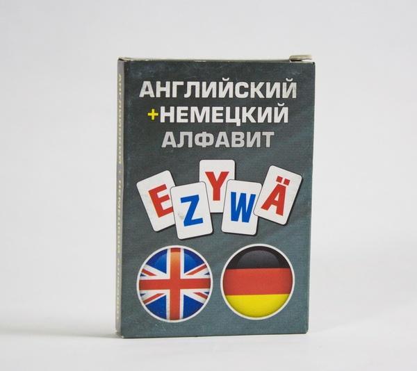 Карточки обучающие Алфавит (англ/нем)   Артикул: 06144102