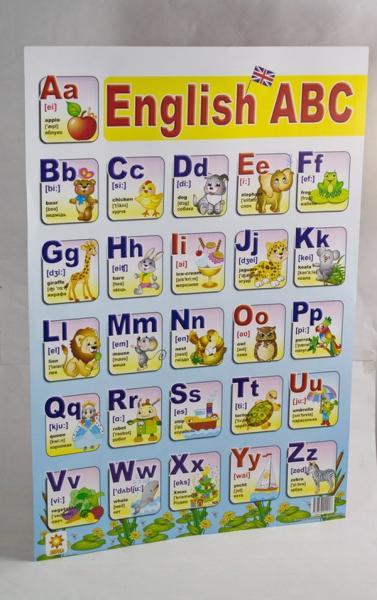 "Плакат ""Англійська абетка""   Артикул: 06242917"