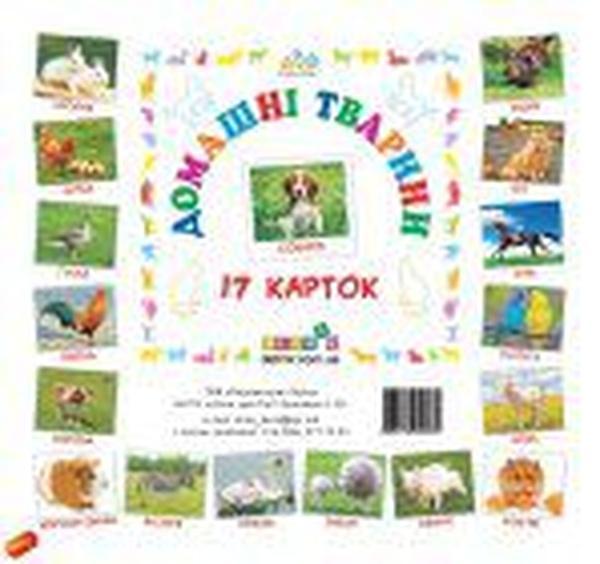 Картки міні Домашні тварини (110х110 мм) (укр)   Артикул: 06340032