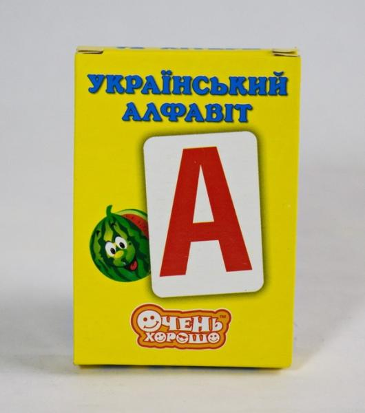 Карточки обучающие Алфавит (укр)   Артикул: 06530758