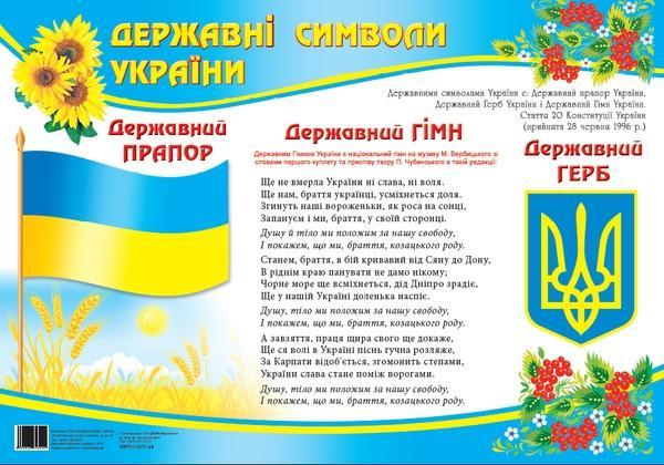 """Плакат """"Символіка""""   Артикул: 06693040"""